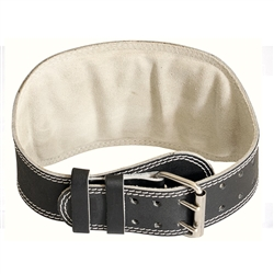 "Ader 6"" Leather Weight Lifting Belt- Padded"
