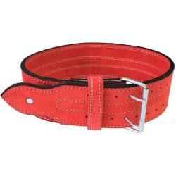 "Ader Powerlifting Belt- 4"" Red"