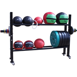 Medicine Ball and Weight Plate Storage Rack