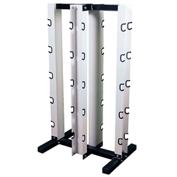 Rubber Dumbbell Vertical Rack- 4-Sided For 10 Pairs