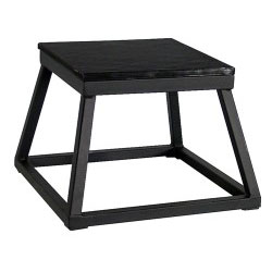 "12"" Black Steel Plyometric Box"