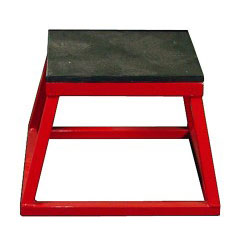 "12"" Red Steel Plyometric Box"