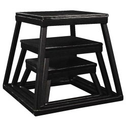 Black Steel Plyometric Box Set - Set of 3