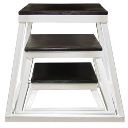 White Steel Plyometric Box Set - Set of 3