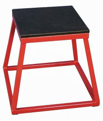 "18"" Red Steel Plyometric Box"