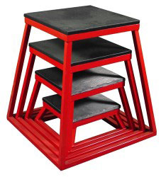 Red Steel Plyometric Box Set - Set of 4