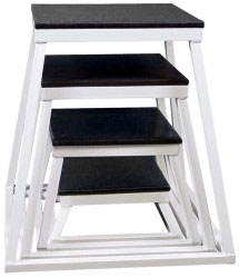White Steel Plyometric Box Set - Set of 4