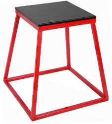 "24"" Red Steel Plyometric Box"