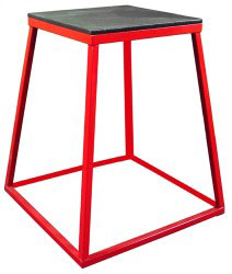 "30"" Red Steel Plyometric Box"