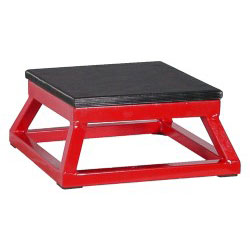 "6"" Red Steel Plyometric Box"