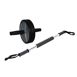 Double Ab Wheel & Power Twister Original Dynabender- 50lb Tension