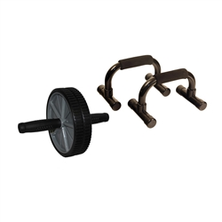 Double Ab Wheel & Push Up Bars
