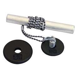 "Power Wrist Roller w/ 1"" Black Plates (1.25, 2.5lb)"