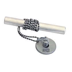 "Power Wrist Roller w/ 1"" Gray Plate (1.25lb)"