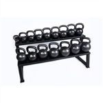 Premier Kettlebell Set w/ Rack & DVD- 5lb to 50lb