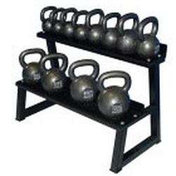 Premier Kettlebell Set w/ Rack & DVD- 6kg to 32kg