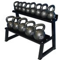 Premier Kettlebell Set w/ Rack & DVD- 6kg to 36kg