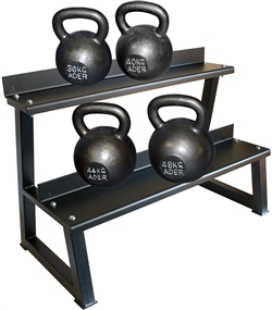 Premier Kettlebell Set w/ Rack & DVD- 36kg to 48kg