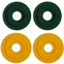 Precision Olympic Plate Set- 1.0 & 1.5Kg