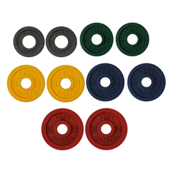 Precision Color Metal Olympic Plates- 5 Pairs
