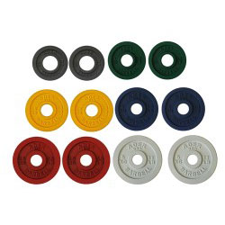 Precision Color Metal Olympic Plates- 6 Pairs