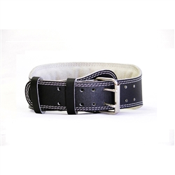 "Ader 4"" Leather Weight Lifting Belt- Padded"