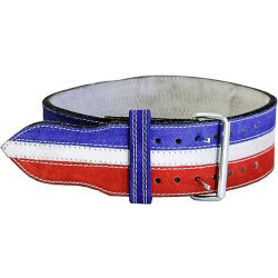 "Ader Powerlifting Belt- 4"" R/W/B"