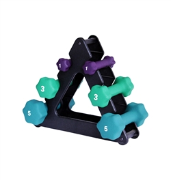 Neoprene Dumbbell Set W/ Mini Rack- 1, 3, 5lbs