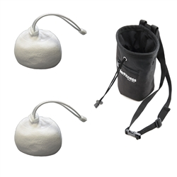 2 Refillable Gym Chalk Balls & Power Bag W/ Belt