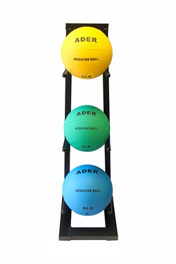 Medicine Ball Set w/ Mini Rack- 2, 4, 6lb