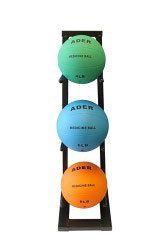 Medicine Ball Set w/ Mini Rack- 4, 6, 8lb