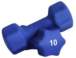 Blue Neoprene Dumbbell Pair- 10lb