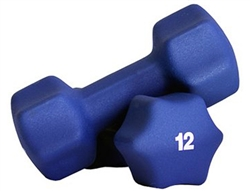 Blue Neoprene Dumbbell Pair- 12lb