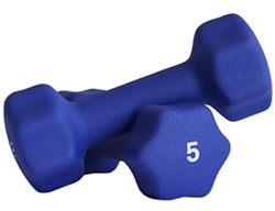 Blue Neoprene Dumbbell Pair- 5lb