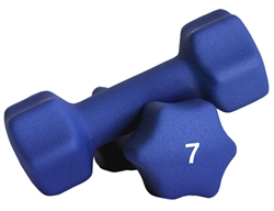 Blue Neoprene Dumbbell Pair- 7lb