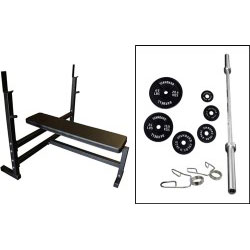 Olympic Bench Press W/ Weight Set