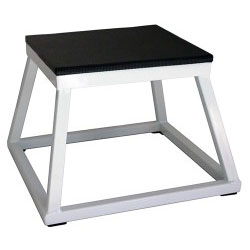 "12"" White Steel Plyometric Box"