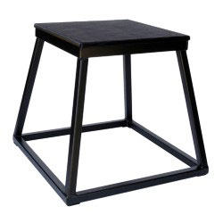 "18"" Black Steel Plyometric Box"