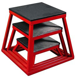 Red Steel Plyometric Box Set - Set of 3