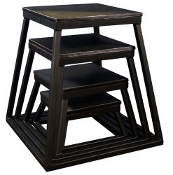 Black Steel Plyometric Box Set - Set of 4