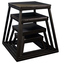 "Black Steel Plyometric Box Set - Set of 4 (6"" - 24"")"