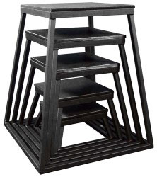 "Black Steel Plyometric Box Set - Set of 5 (6"" - 30"")"
