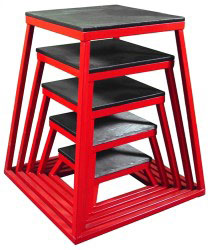 Red Steel Plyometric Box Set - Set of 5