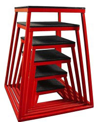 Red Steel Plyometric Box Set - Set of 6