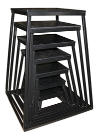 "Black Steel Plyometric Box Set - Set of 7 (6"" - 42"")"