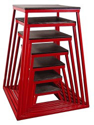 Red Steel Plyometric Box Set - Set of 7