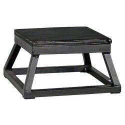 "6"" Black Steel Plyometric Box"