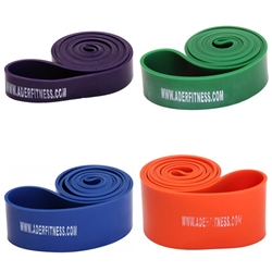 Set Of 4 Stretch Bands- Heavy Tension