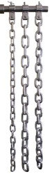 Zinc Weight Lifting Chain Set w/ Zinc Collars- 30, 45, 60lb Pair
